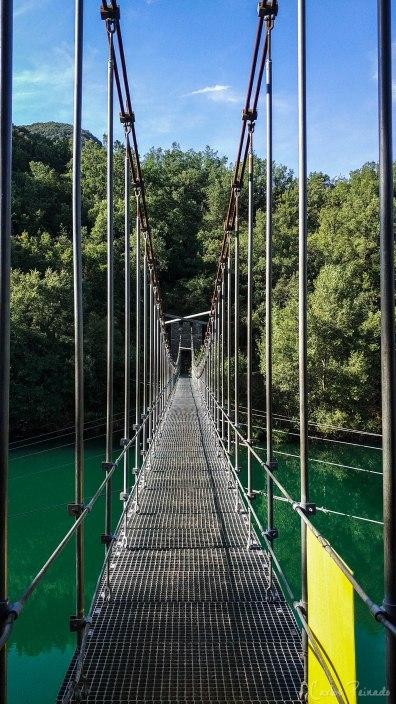 Estructura del puente colgante.